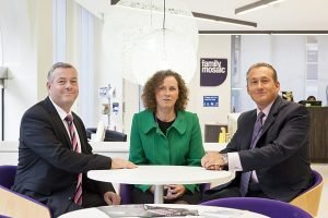 Graham Davies of Trace Solutions, with Pam Moran & Saul Stevens from Family Mosaic